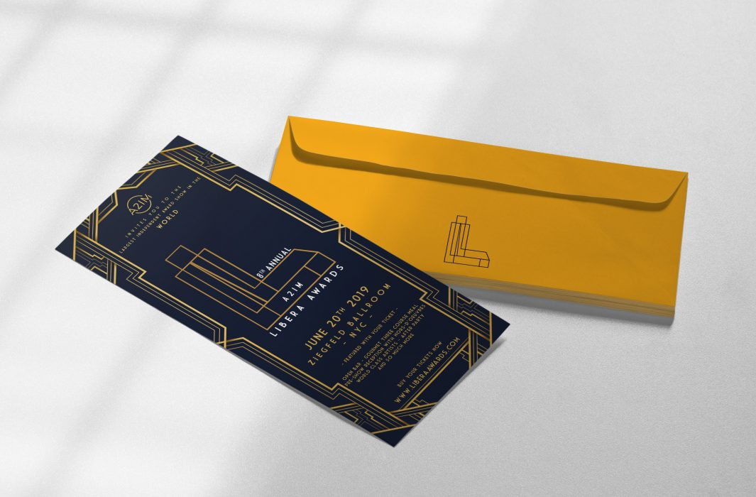 libera invitation and envelope